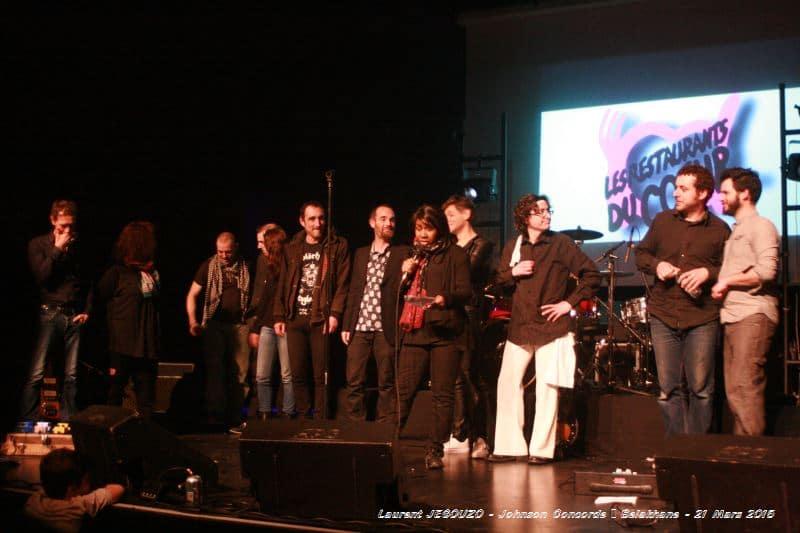 Concert Caritatif 21 mars 2015 Johnson Concorde Belakane 9 2 groupes venus se produire gratuitement au profit des Restos.