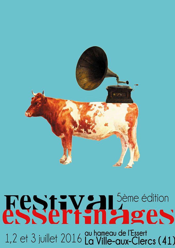 Affiche Essertinages 2016 Tel un parfum, la 5ème édition du Festival Essertinages sera exceptionnelle, par sa durée, 3 jours, le nombre d'artistes s'exécutant sur scène, et parce qu'il annoncera le soleil de Juillet, (enfin espérons...)
