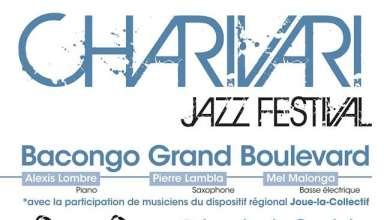Affiche Charivari 2018 Le Charivari est un festival de jazz itinérant qui aura lieu sur le Territoire Vendômois du 13 au 26 mai 2018.