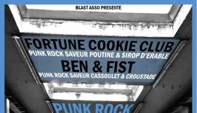 Alcazar Fortune Cookie Ben Fist 17 mai 2018 A L'Alcazar à #vendome, ce Jeudi 17 Mai aura lieu le premier (mais non le dernier) concert de Punk rock de l'année avec Fortune cookie Club de Montréal et Ben & Fist de Toulouse, en tournée dans notre contrée.
