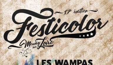 Festicolor 2018 affiche BD 17ème édition du Festival Festicolor du jeudi 31 mai au 2 juin 2018 à Meung-sur-Loire (45)