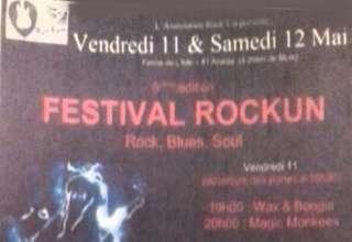 RockUn 5 Flyer 5éme édition d'un Festival qui a trouvé son identité : le Rock'n Roll, et les connaisseurs ne se s'y pas trompés et était nombreux dans cette petite ferme des limons de la Loire à Avaray, pour écouter des artistes prêt à saigner sur leur Gibson, (ou leur Ligerie, et saturer leur basse sur un ampli Jegou)