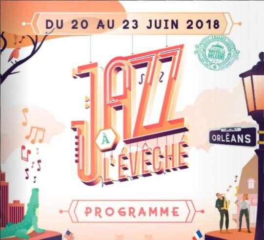 Jazz a leveche Juin 2018 La Mairie d'Orléans présente la 4ème édition du Festival Jazz à l'Évêché. Artistes, musiciens et chanteurs de jazz se produiront dans le superbe Jardin de l'Évêché.