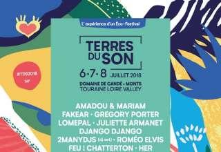 """TDS 2018 La 14éme édition de ce """"Eco-Festival"""" aura lieu au domaine de Candé au sud de Tours à Monts(37), du 6 au 7 Juillet 2018"""