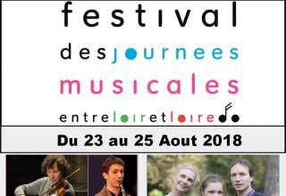 Festival des journees musicales 2018 Une programmation contenant de jeunes musiciens talentueux et reconnus, primés lors de concours internationaux prestigieux. Avec un concert lié au patrimoine architectural entre Loir et Loire.